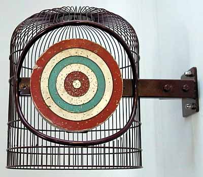 Piks Dartboard in a Cage